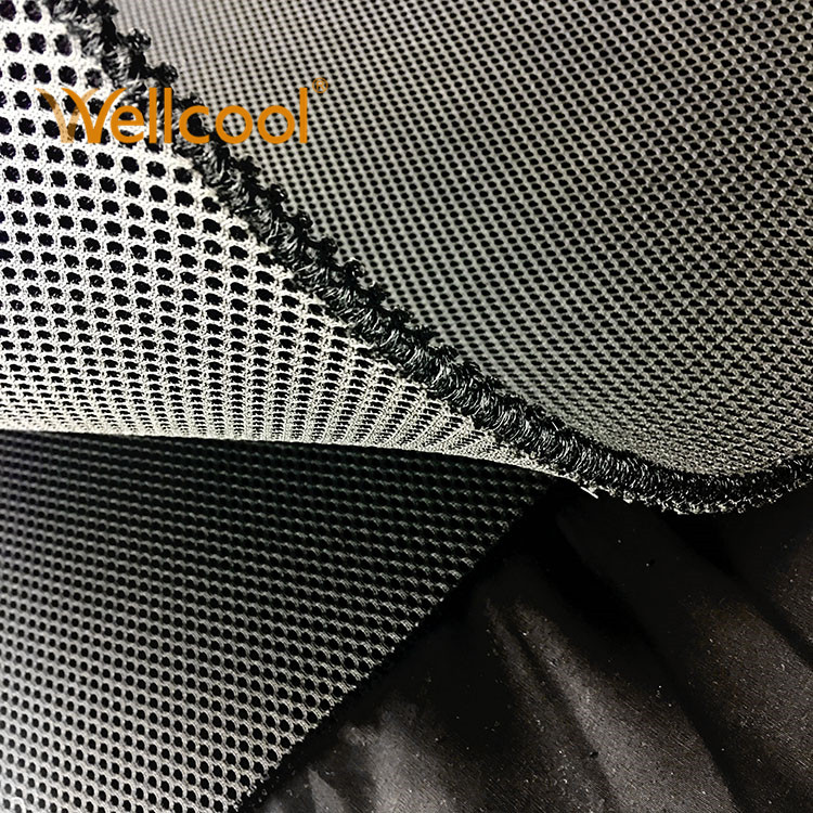 Small hexagon 8mm recyclable polyester airflow mesh fabric for sports saddle pad