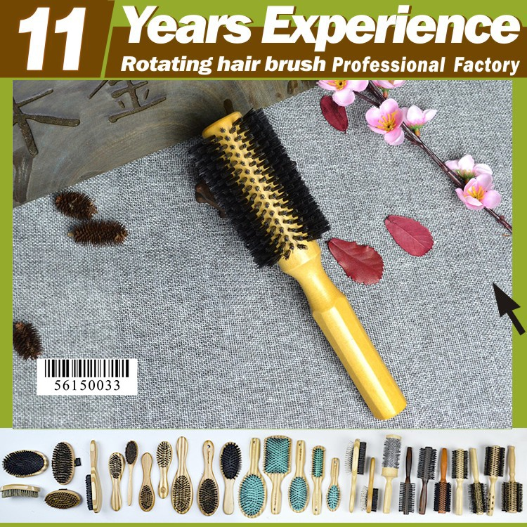 11 year experience factory professional private label Eco-Friendly wooden diane hair brushes