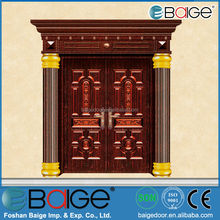 BG-C9033 Steel Copper Door Skin / Bronze Main Front Door