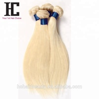 Machine Double Weft Brazilian Virgin Human Hair 3 Bundles 613 Blonde Hair Weave