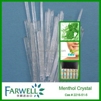 Farwell Food grade pure natural Menthol Crystals cas#2216-51-5