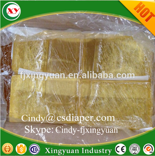 Spandex Elastic Hotmelt adhesive glue for baby diapers manufacturer