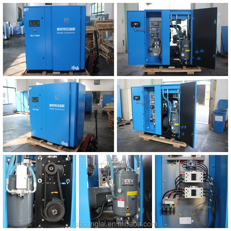 Portable diesel screw air compressor