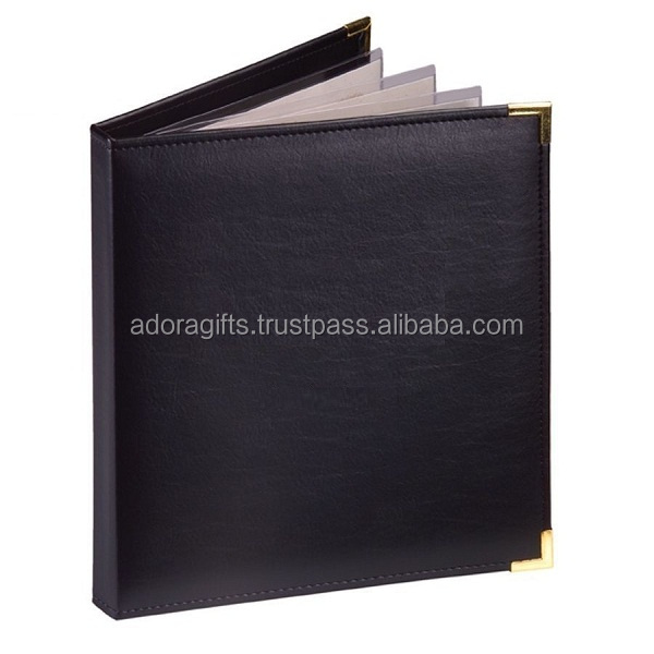 mumbai manufacturer restaurant equipment supplies provided high quality a4 dessert real leather menu cover