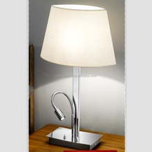 Jcpenney table lamps stainless steel modern table lamps with led gooseneck lamps for hotel bedroom lighting decoration
