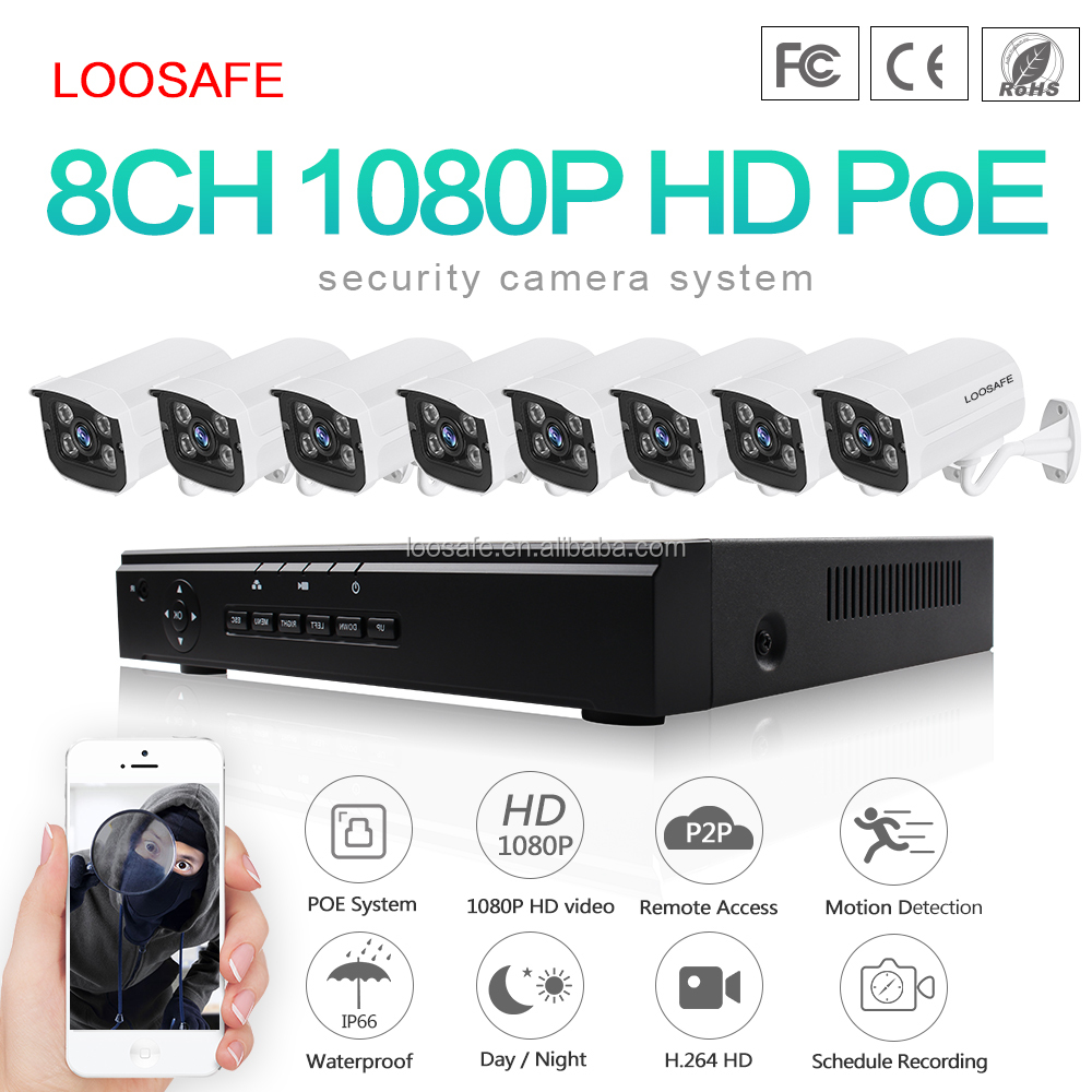 8ch Nvr Cctv Outdoor Security Kit 8ch 1080p Hd Wireless Ir Wifi Ip Camera System High Quality 8ch Nvr