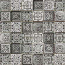 Creative antique design digital inkjet print glass mosaic kitchen tile