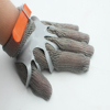 Orange Tough and Durable welding gardening Stainless Steel Gloves Knife Cut Resistant