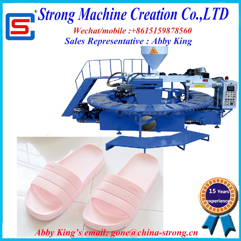 PCU air blown slipper injection moulding machine for shoes/slipper/sole