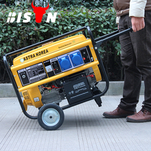 BISON(CHINA) Yellow Portable 5kw Gasoline Generator, 5000 Watt Petrol Generator Astra Korea