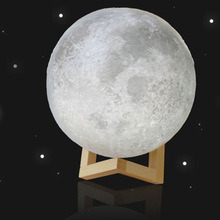 Creative Gift Lunar Lamp USB LED Night Light 3d Ball Print Shaped Moon Lamp