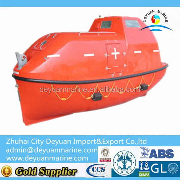 hot-sale marine rescue equipment fiberglass totally enclosed lifeboat and rescue boat