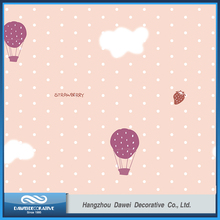 Home office hotel school decoration pvc wall paper with strawberry design