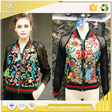 YJC wholesale custom woman bomber jacket