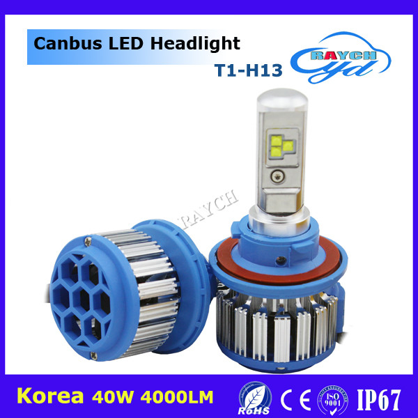 Sample available super bright H1 H3 H4 H7 H11 H13 9004 9005 9006 LED Headlight 4000LM 40W T1 led
