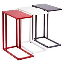 Colored Red Green Blue C table coffee table; Modern end table; Stainless steel frame