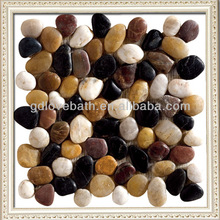 Mix color pebble mosaic supplies