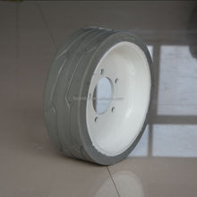 high quality mould on lift wheel cured-on solid tyre 12x4 200x8 for Skyjack platform lift