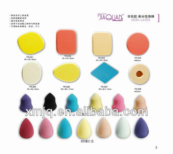 egg shape Non-latex sponge