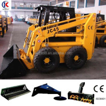 JC45 mini skid steer loader,china bobcat,engine power 50hp,loading capacity 700kg