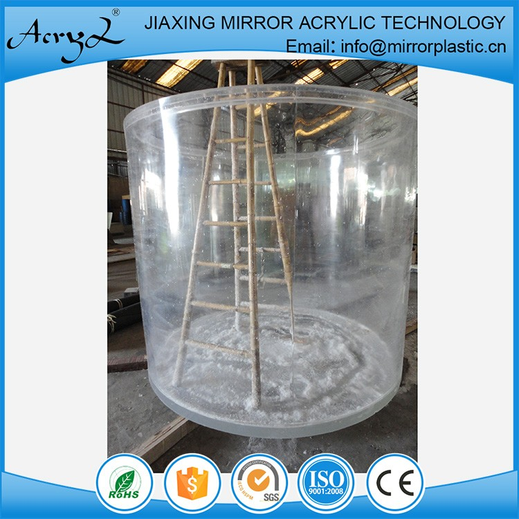 China Factory Wholesale Cylindrical Acrylic Aquarium