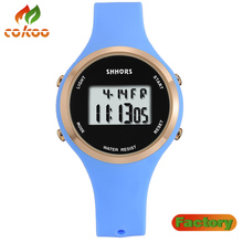 SHHORS 30M Waterproof Sports LED Electronic Wrist Watch with Sport, Night Light & Alarm Clock Function