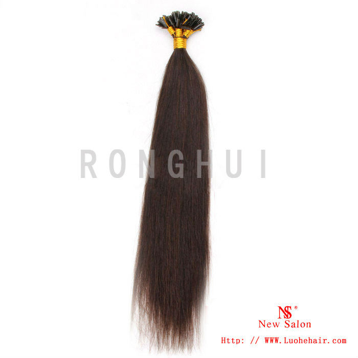 cheap!best seller I/U/V stick tip hair extension 100% human remy hair