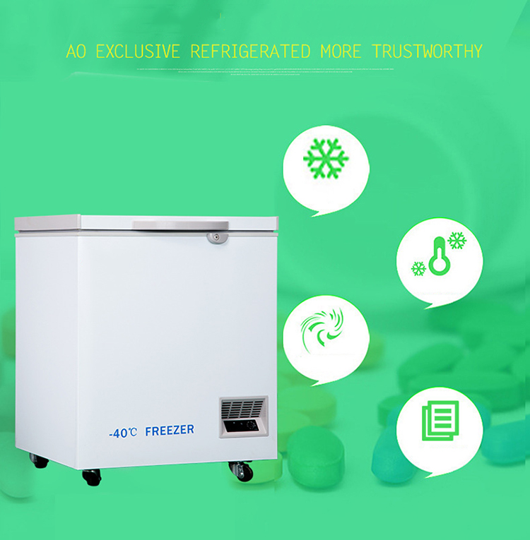 -40degree DW-40W188L Horizontal Electric Deep Freezer Pharmacy Lab Refrigerators Industrial Refrigeration Cooling Chamber chest freezer