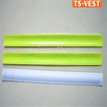 Security protection roadway safety eco-friendly funny Fashion sport reflector snap PVC wrist band