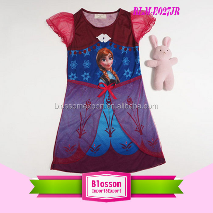 2014 Europe and America Hot Selling New Design Frozen Elsa Dress Wholesale