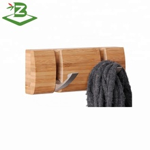 Bamboo Wall Hanger For Coats / Bags / Keys With 2 Hooks_BSCI & FSC Factory