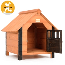 Luxury Simple Wood Pet Dog House Bed