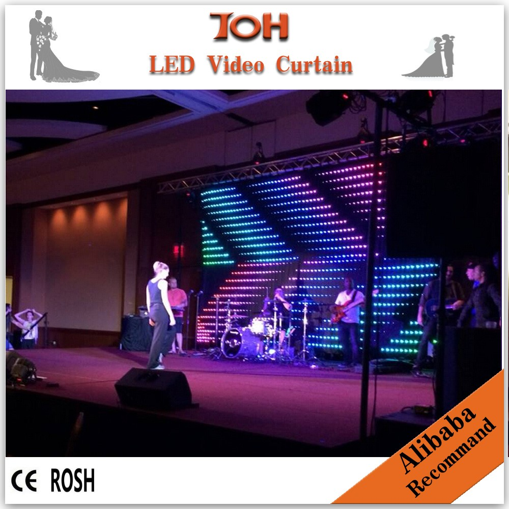 indoor full color LED curtain/LED video wall/LED stage curtain <strong>screen</strong>