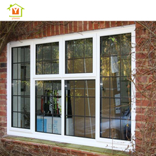 Four pane aluminium frame glass house windows with grilles