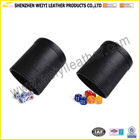 Personalized Gambling Game Dice Cup PU/Genuine Leather Dice Cup
