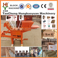 Hot sale brick machine home family industry use small clay brick making machine for india manual brick plant