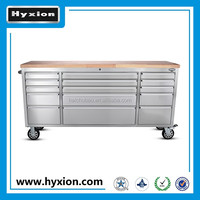 2015 new 72 inch 15 drawer stainless steel tool chest for sale