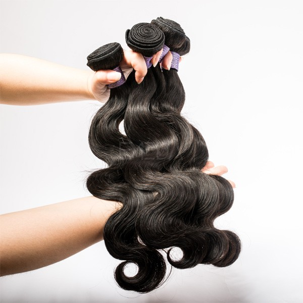 Cambodian body wave 100g soft hair extension without synthetic hair
