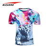 Manufacturer 100% Polyester Sublimation Mens Fitted Tshirt