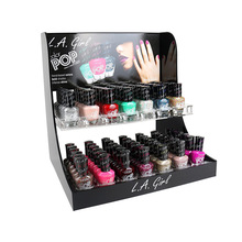 Nail Store Display Supplies Black Acrylic Tabletop POP Display Rack