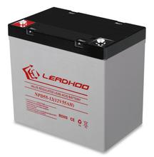 Long service life battery supplier solar dry cell 12V55AH deep cycle lead acid battery