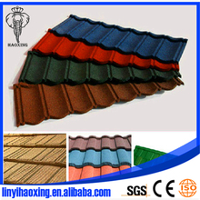 Coffee black Rainbow tile colorful stone coated metal roofing sheet deco roof tile