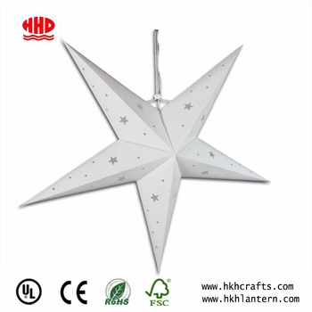 Collapsible star shaped decorative plastic lantern light
