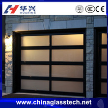 Sound and Heat insulation single/double glzed tempered frosted aluminum alloy frame sliding glass panel garage door