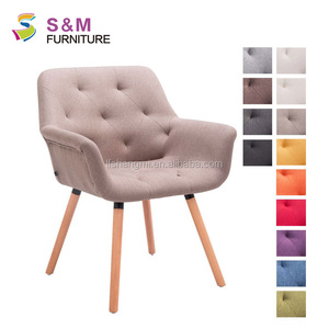 Fabric lounge chair antique arm chair for bedroom furniture