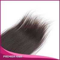 10inch wholesale high quality unprocessed fashionable Indian hair Yaki remy lace front closure with baby hair