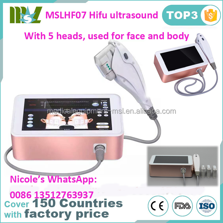 MSLHF07 portable 13mm depth fat removal hifu ultrasound/face lifting machine
