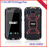 4.7 Inch 1280*720 HD IPS Screen Android 4.4 Rugged Smartphone iMAN i6800 Quad Core 1GB RAM 8GB ROM Dual SIM Phone
