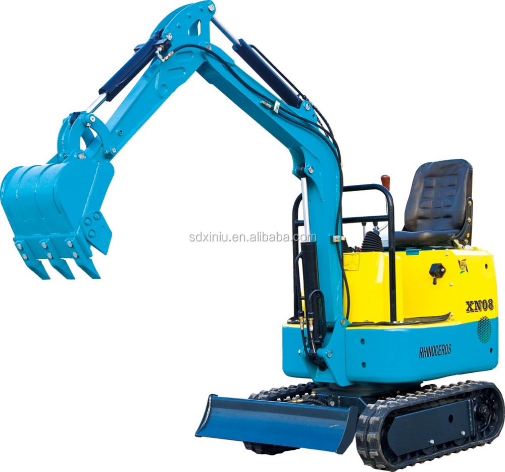 China cheap price mini farm equipment, mini excavator XN08 0.8T