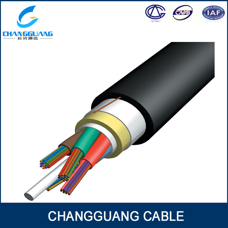 Anti side pressure adss 8 core singlemode fiber cable